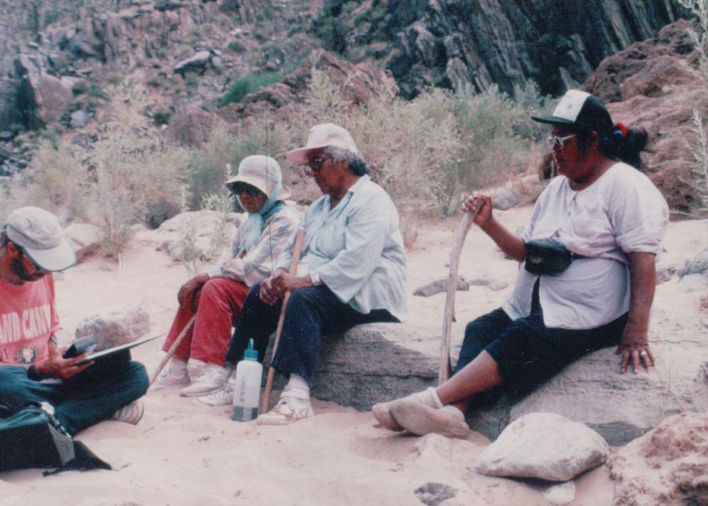 Interviewing Southern Paute elders in Grand Canyon National Park  (Photography by Richard W. Stoffle)