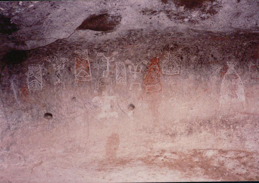 Petroglyphs in cave near Cucurpe, Sonora, Mexico