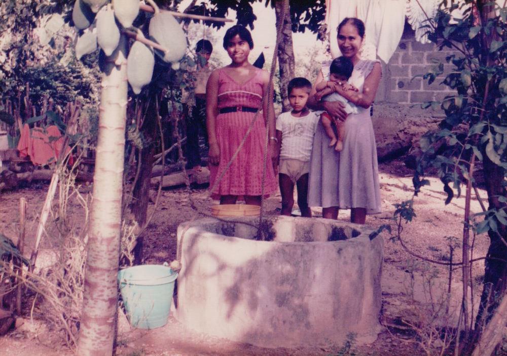Household well, Las Margaritas, 1985  (Photo Credit: Allison Bingham)