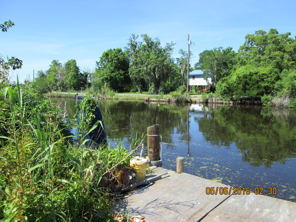 Bayou Pointe au Chien, home of the Pointe au Chien Indian Tribal community.