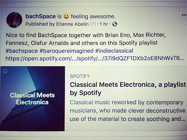 😎BachSpace on Spotify playlist https://spoti.fi/2EKcHfg