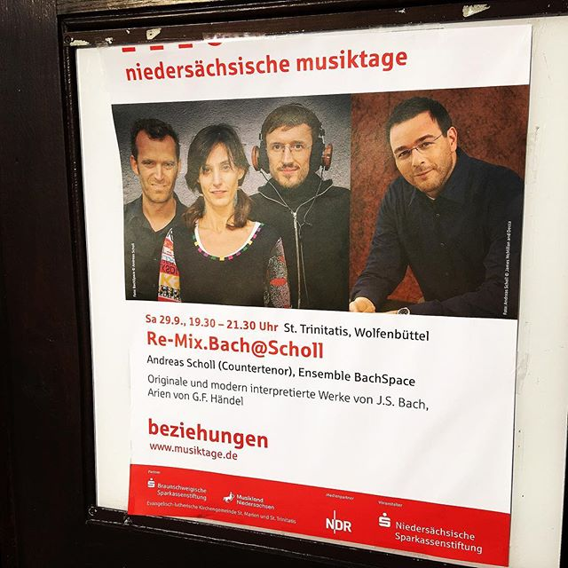 Beautiful concert tonight with #andreasscholl #bachspace #indieclassical #baroquereimagined #jsbach #postcanonic #niedersächsischemusiktage