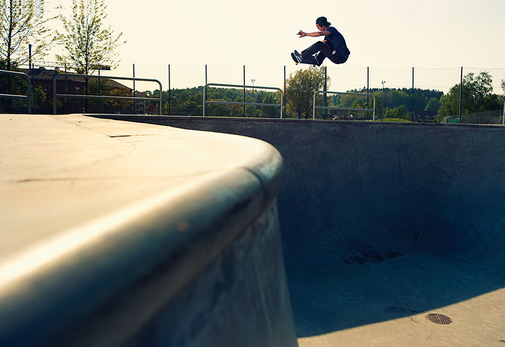 Chai Keuter - Frontside Air.   Foto Anders Neuman