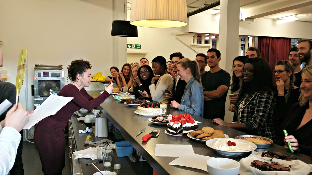 We organised a bake off, followed by a bake sale to raise money for FFP!
