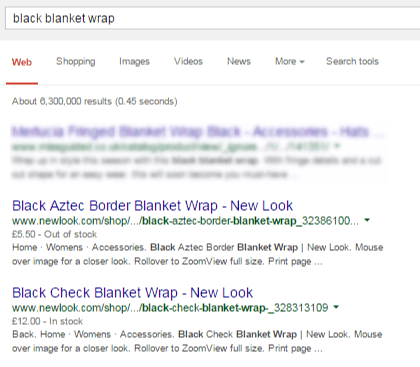 OOS Products were appearing in the SERPs, sometimes even before in-stock products