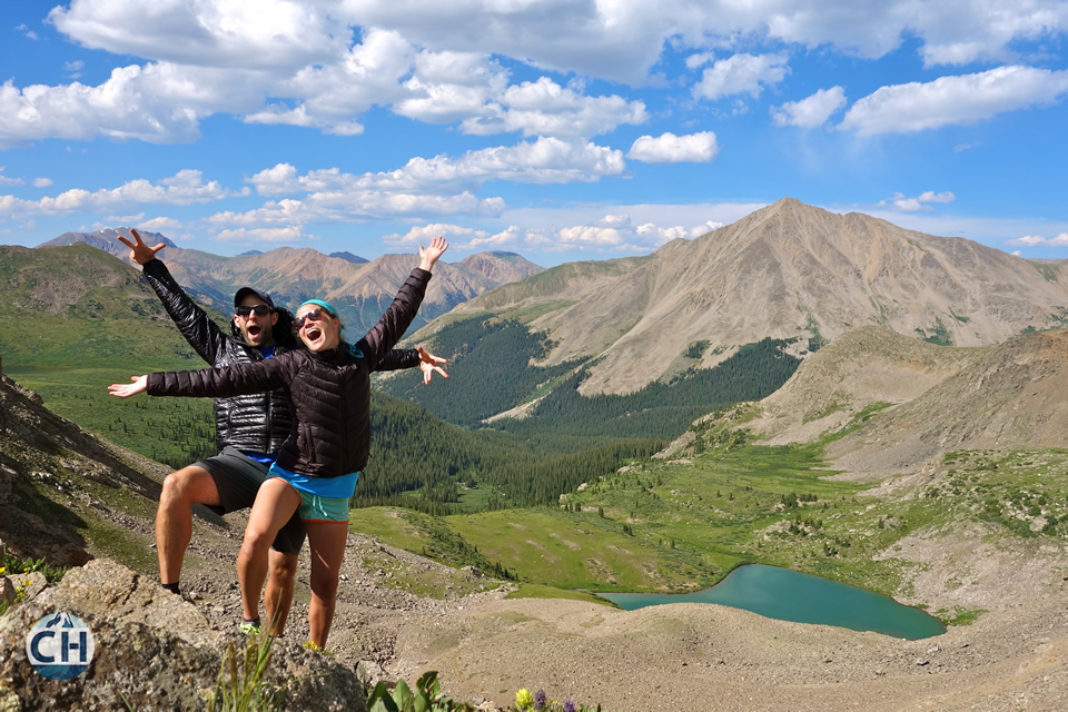 Dave and Annie at Lake Anne Pass