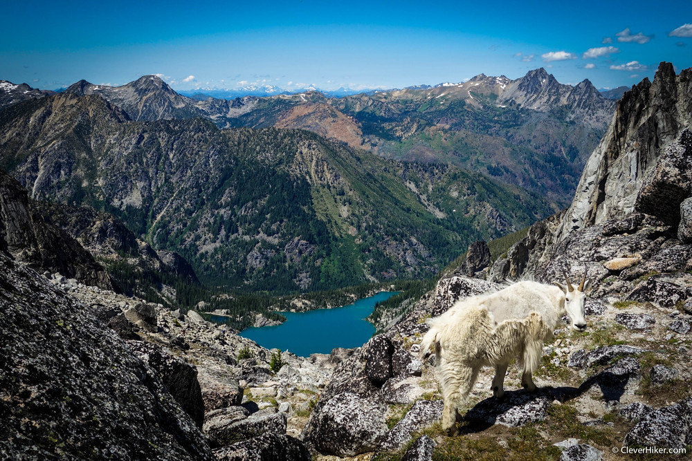 View of Colchuck Lake from Aasgard Pass