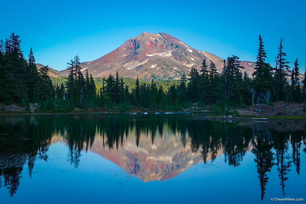 View of South Sister from Husband Lake - Wowzers