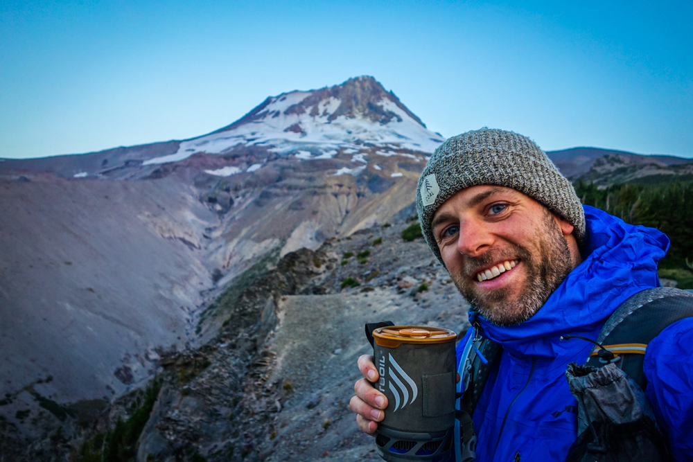 morning coffee on the timberline trail, mt hood