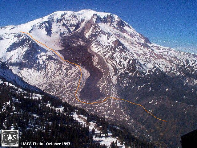 """A photo of """"the gap"""" - treacherous, off-trail, & experts only (USFS photo)"""