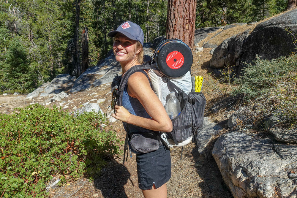 Annie's JMT pack ( HMG Southwest 2400 ) fully loaded with 9 days of food