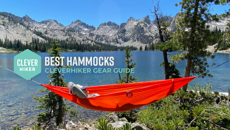 Kamileo Camping Hammock Portable Parachute Nylon Tree Hammock Durable 2 Person Hammock for Outdoor Travel Hiking Backpacking Camping Garden Beach Yard 500lbs Capacity Single Double Hammock
