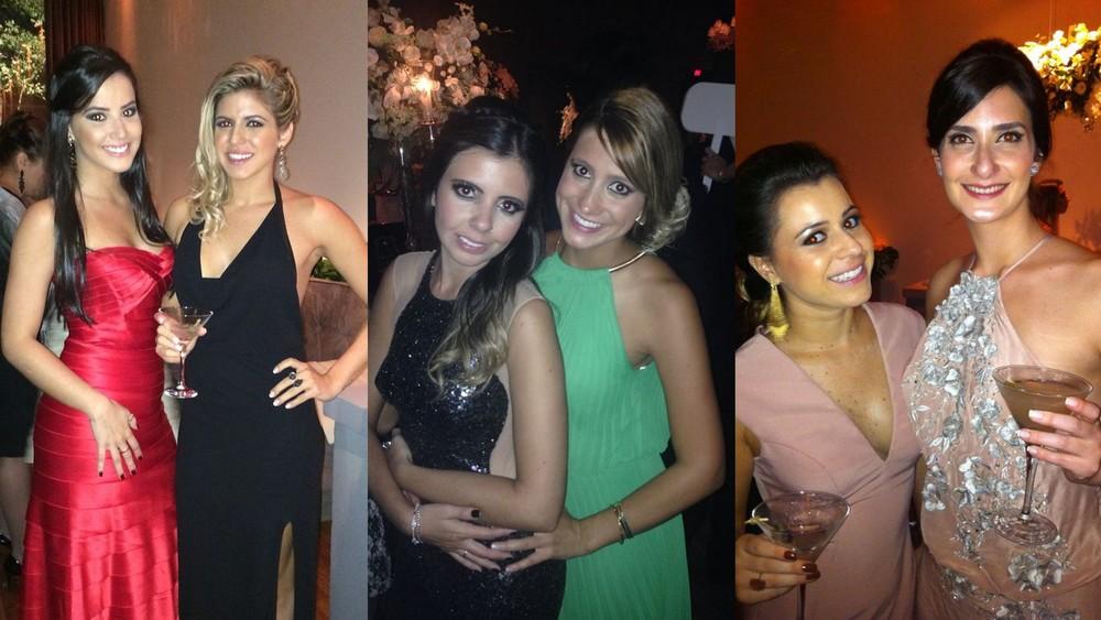 Vestidos das convidadas eram da BCBG, Saks, Tufi Duek, Saks, Dressing e o que eu usei da Mariana Biasi Atelier.