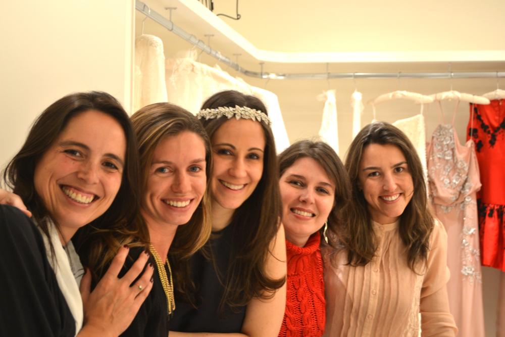 As queridas Pilar Delgado, Cris Cyrineu, Mariana Biasi, Graziela Gallo Garcia e Liana de Oliveira.