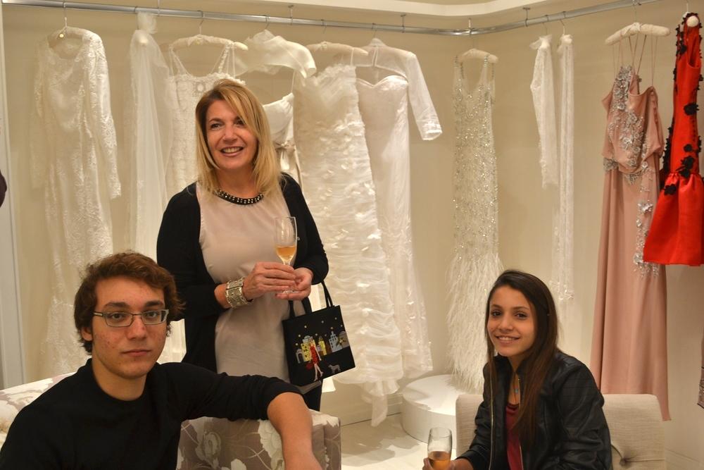 Pati, Piero e Nicole.