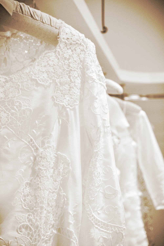 Detalhe do vestido Renda Portuguesa.