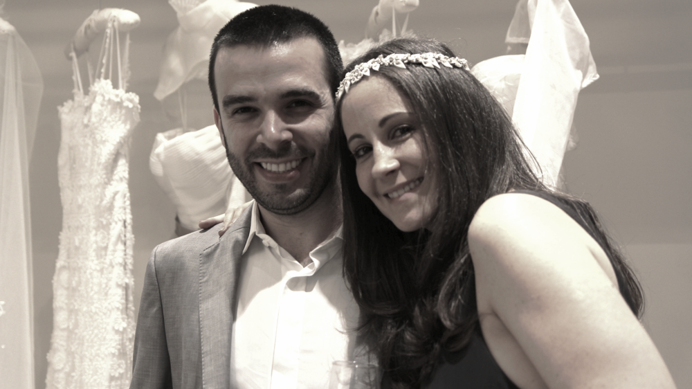 O casal Mariana eThiagoBiasi.