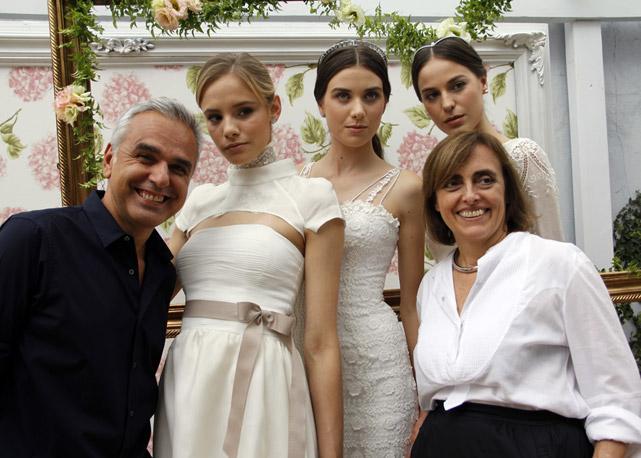 O superstylist Marcio Vicentini com as noivas e a nossa publisher Patricia Carta – Foto: Carol Cairo/Bazaar