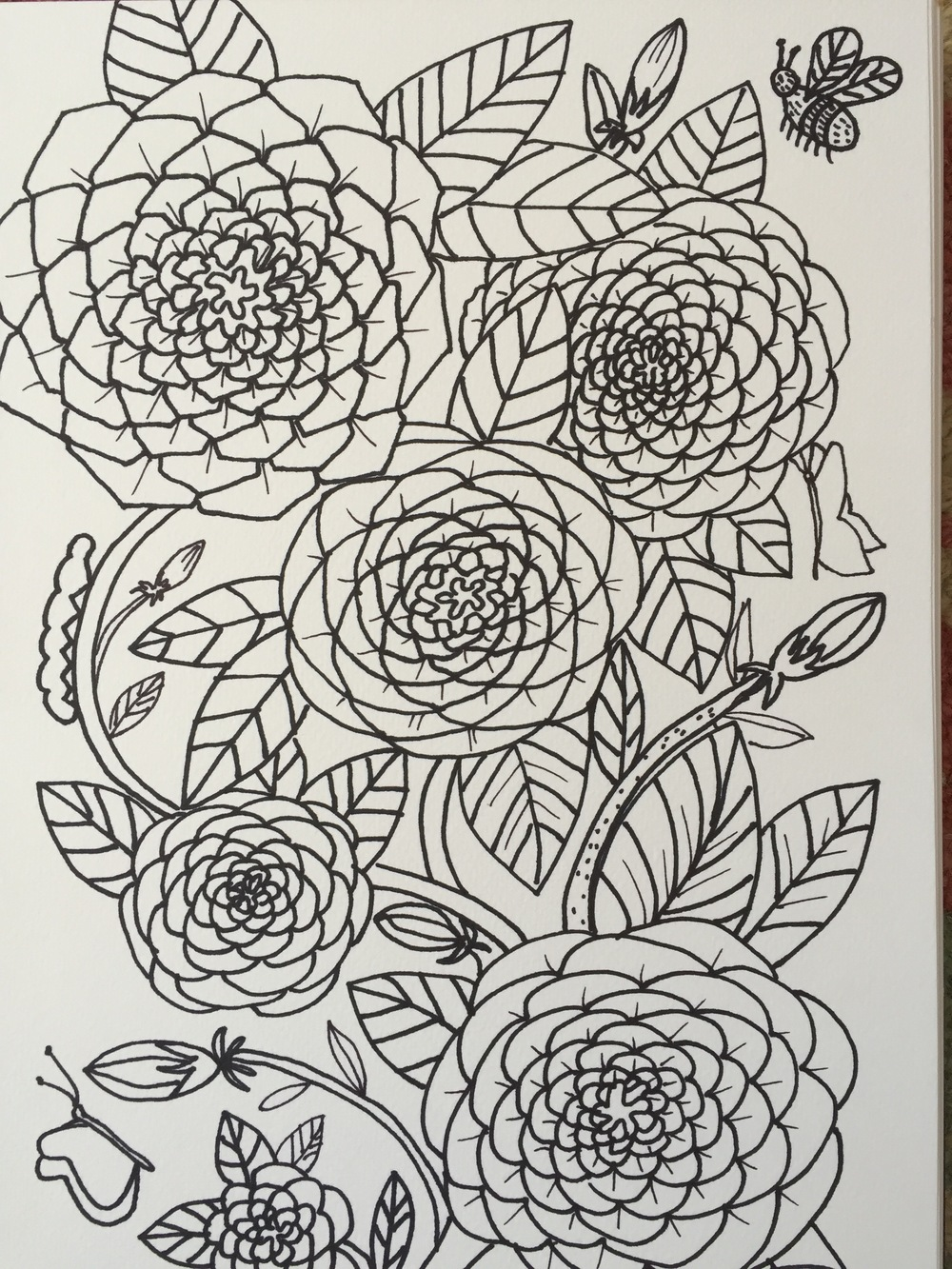 Personal coloring page created by Jean Frank-Stark