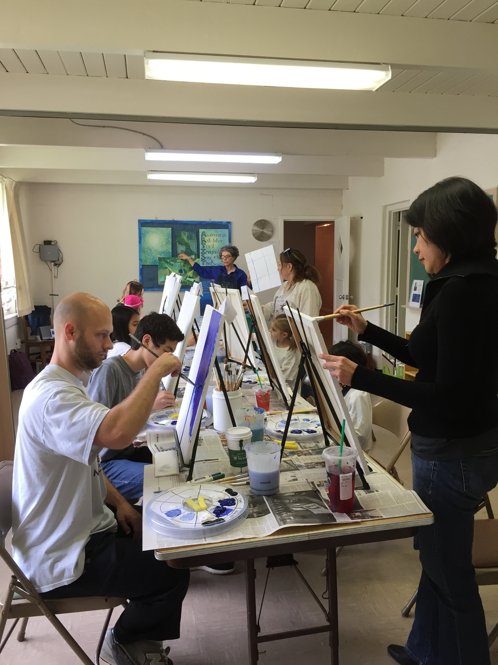 Fun family painting workshops