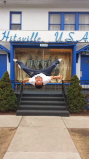 Jamal flipping outside of Hitsville U.S.A.