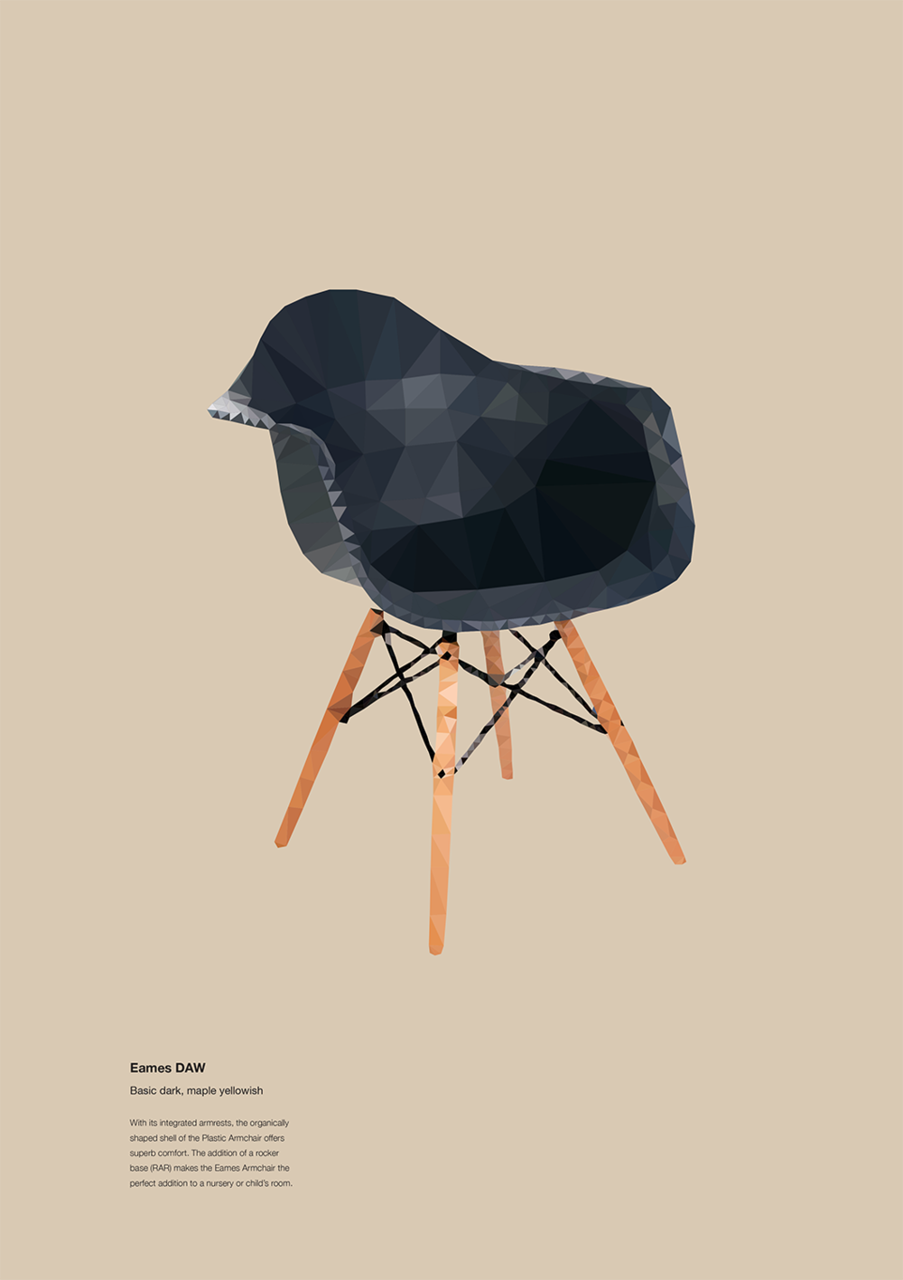 Eames DAW (Dining Height Armchair Wood Base)