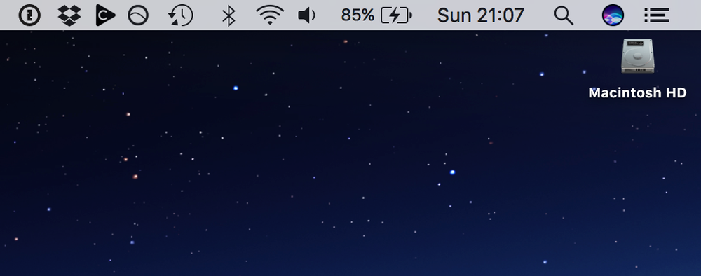 Choosy in the menu bar