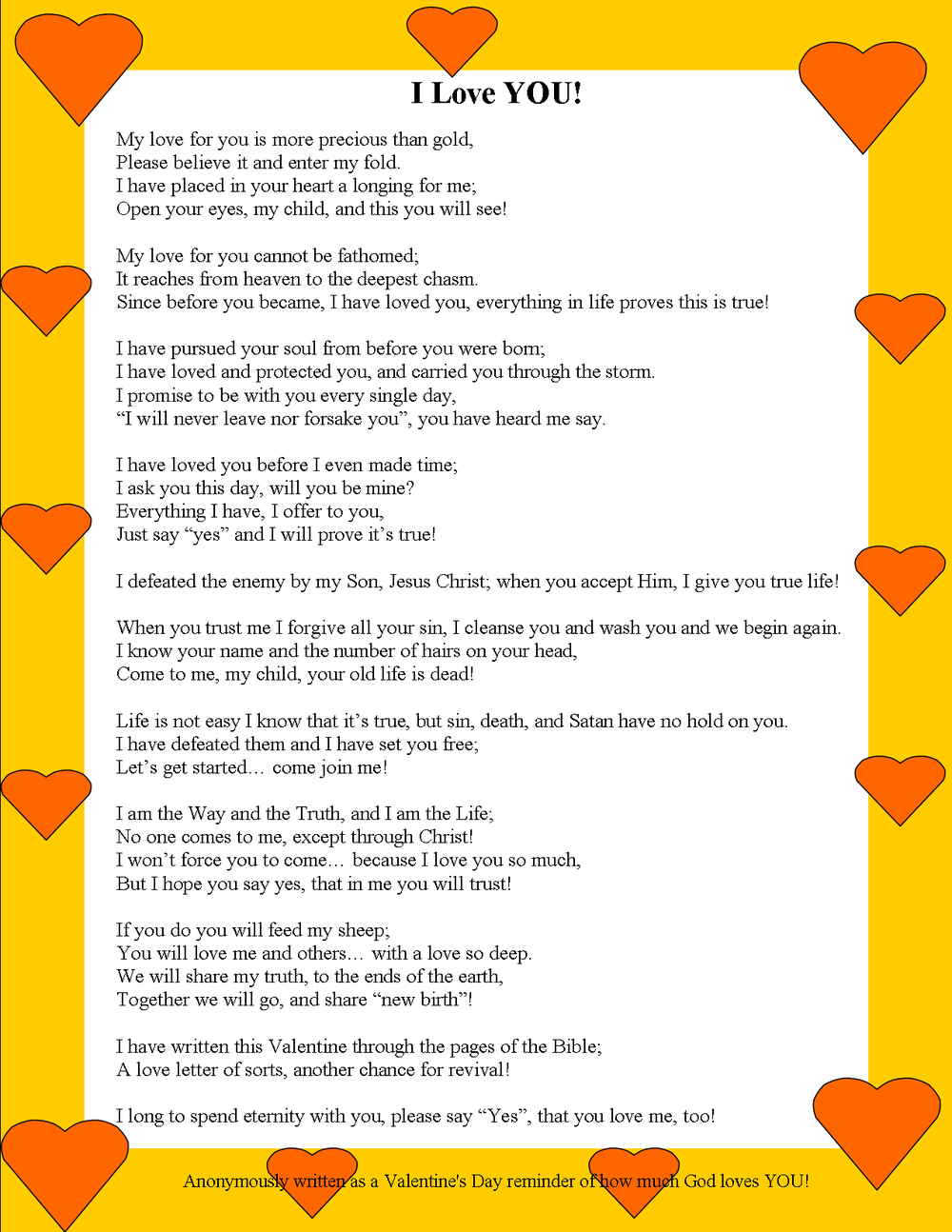 I Love You Valentines Day Poem
