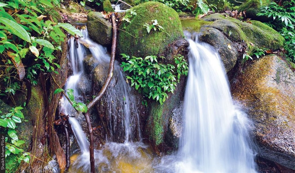 Cascading waterfalls at Bukit 300, Nibong Tebal.