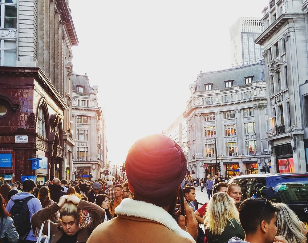 In the sea of faces at Oxford Street, London (23 September 2017)