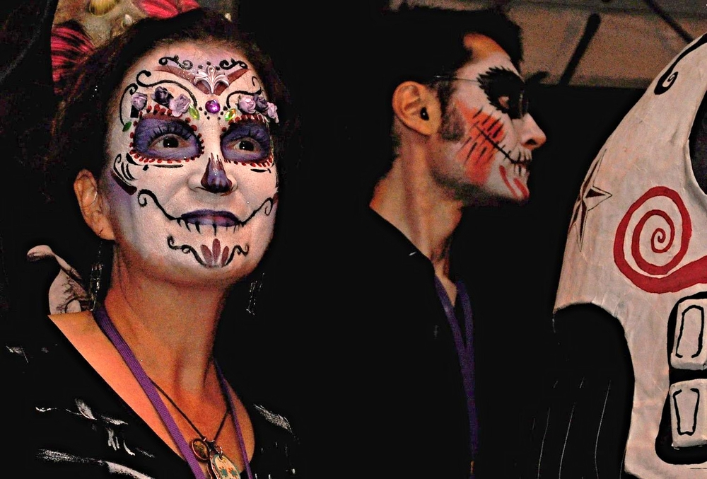 Wendy Jarvis alongside her husband Michael at the Día de los Muertos Festival in Birmingham, Alabama.
