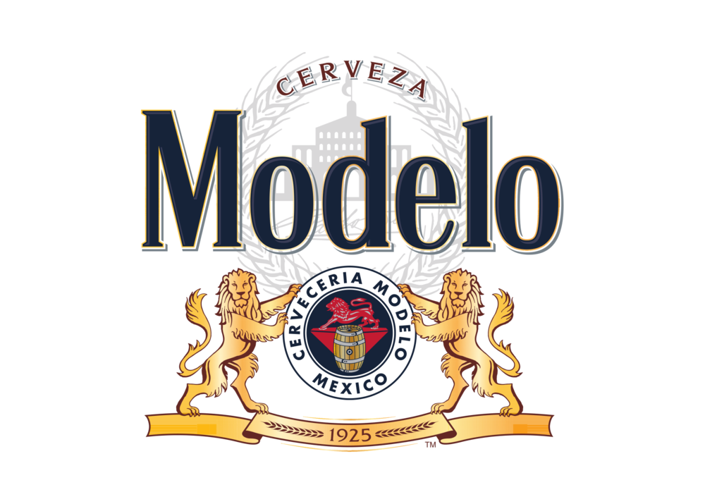 High-Res PNG-Modelo Masterbrand Logo w-brewery seal, lions & ribbon Full color Vertical .png