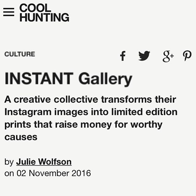 Thank you, @coolhunting & @juliewolfson for the love!  _______________________________ #instantgallery #charity #cause #letsdogood #socialgood #giveback #dogood #philanthropy  #kiva #kivastories #microloans