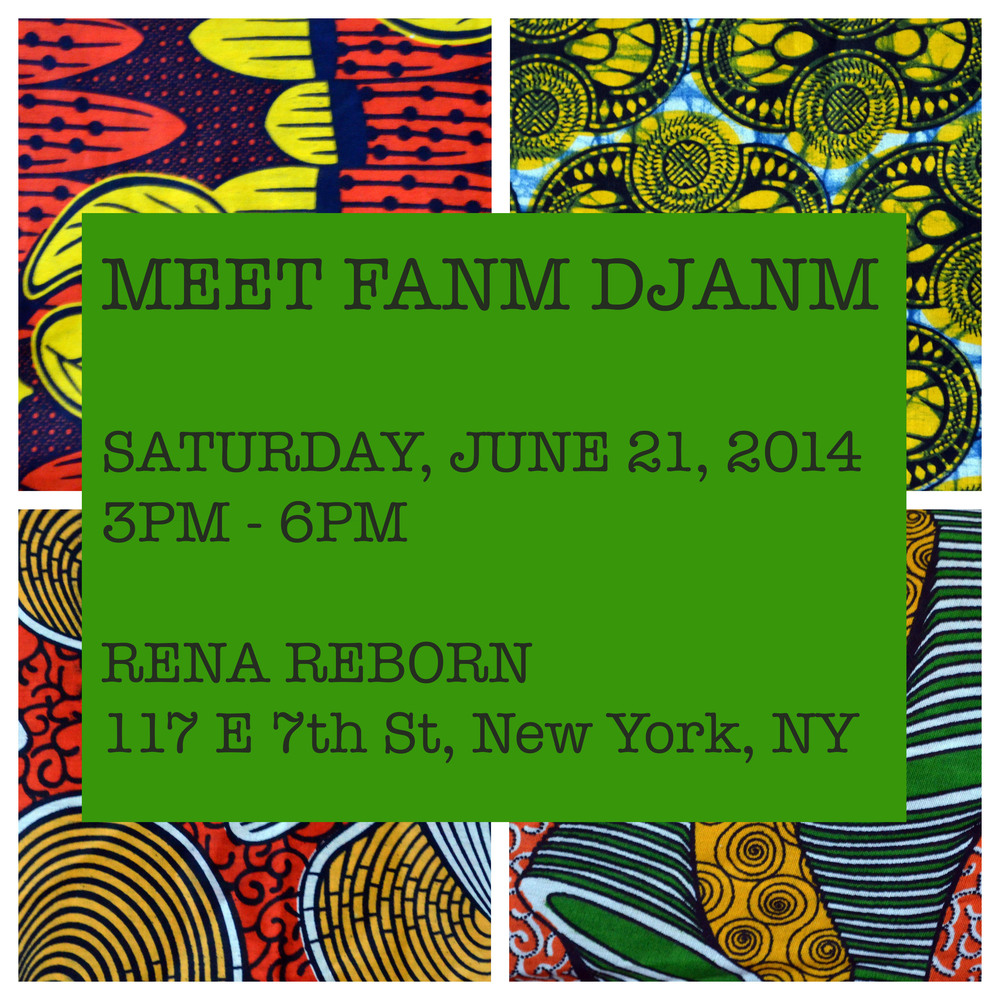 "Meet us at Rena Reborn's third year anniversary party this upcoming Saturday, June 21, 2014 from 3PM - 6PM! We will have a limited quantity of our headwraps for sale.     To purchase everything else (t-shirt, bag, necklace), we are happy to bring them for you if you preorder on the website, using the code, ""rena"" at checkout."