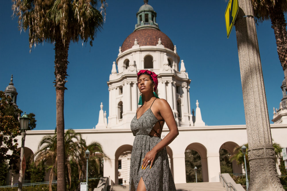 Michelle at the Plaza Las Fuentes