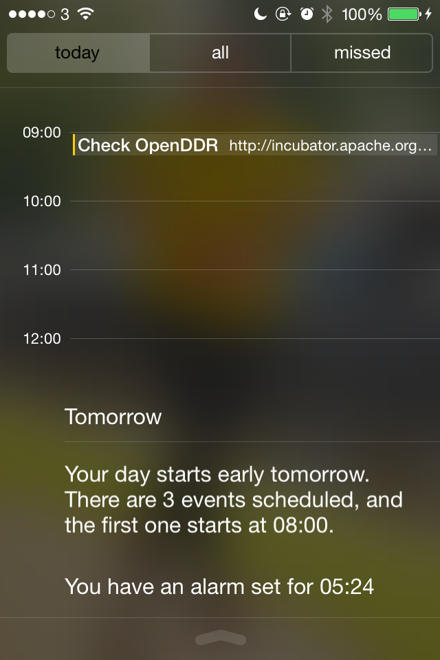 iOS7 Notifications - Calendar