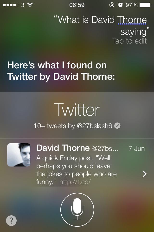 iOS7 Siri - Twitter