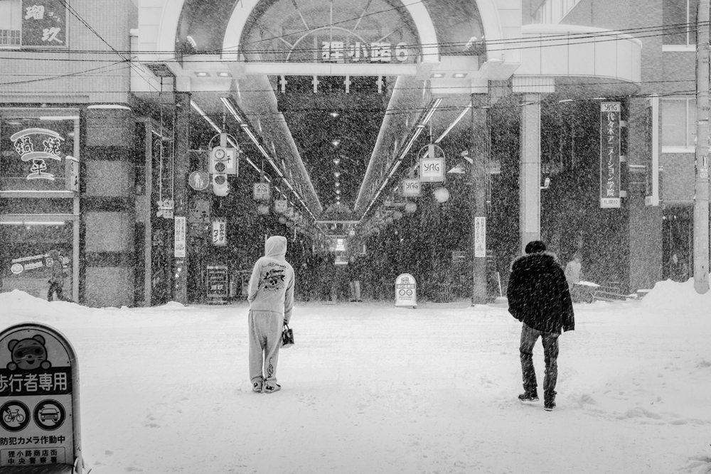 Sapporo city center, cover street are the only solution when it snowing like this practically all the winter time.