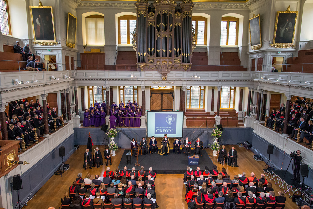The Choir sing at the Vice-Chancellor's Admission