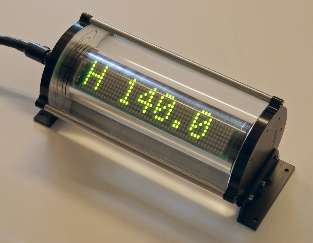 OceanDISP underwater LED matrix display showing heading data
