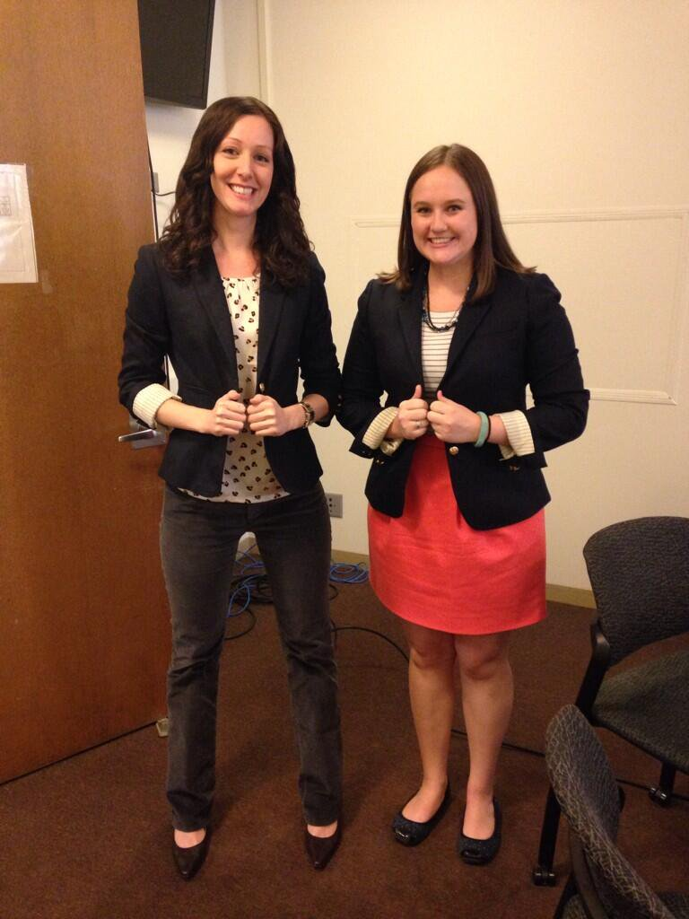 Our first lab match ever! J Crew blazers!