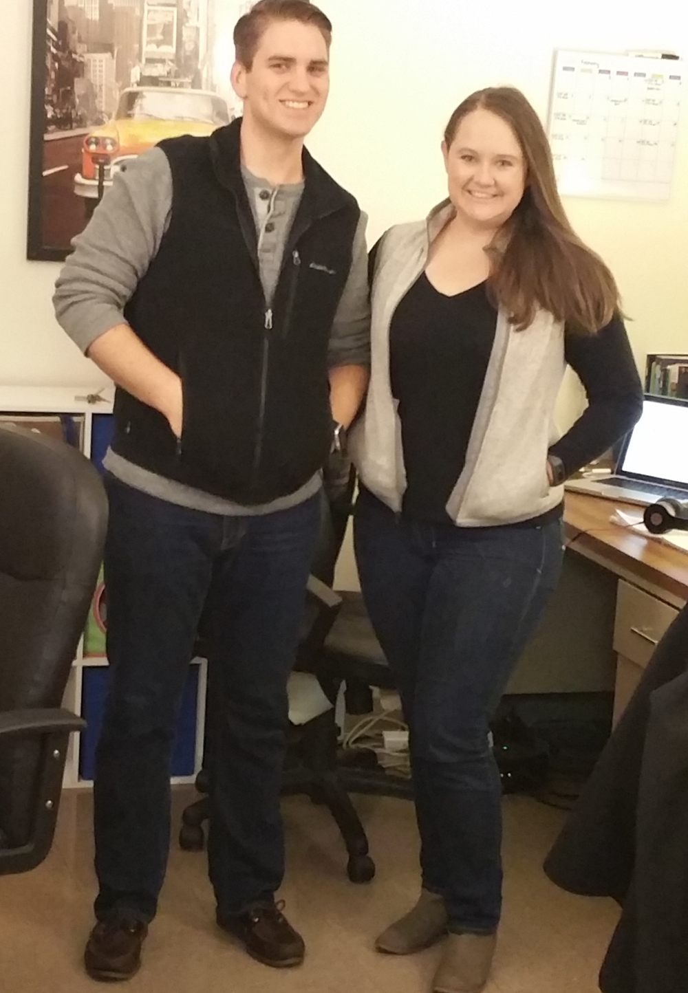 Another accidental clothing match!