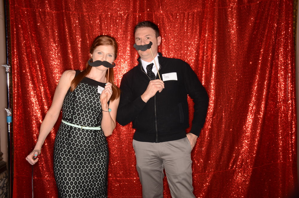 photo booth with sparkly background dfw dallas fort worth
