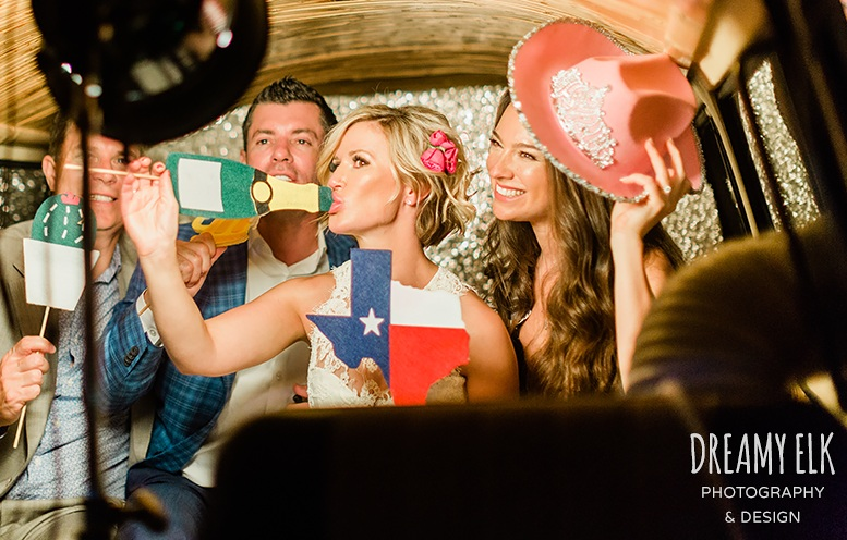 The Bus is a great Photo Booth for a Wedding in Fort Worth at 809 Vickery.