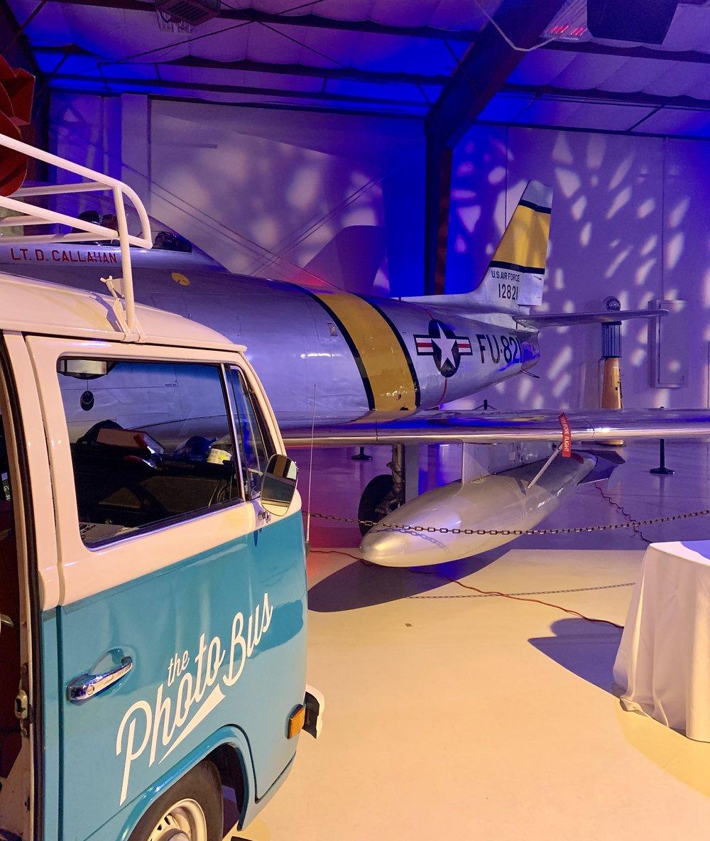 Flight museum photo booth ideas