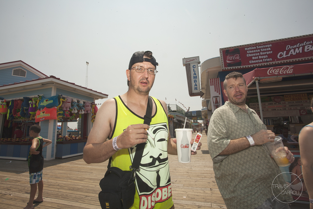 """Dude where did you come from."" ""yeah take a picture of the whitest guy on the boardwalk!"""