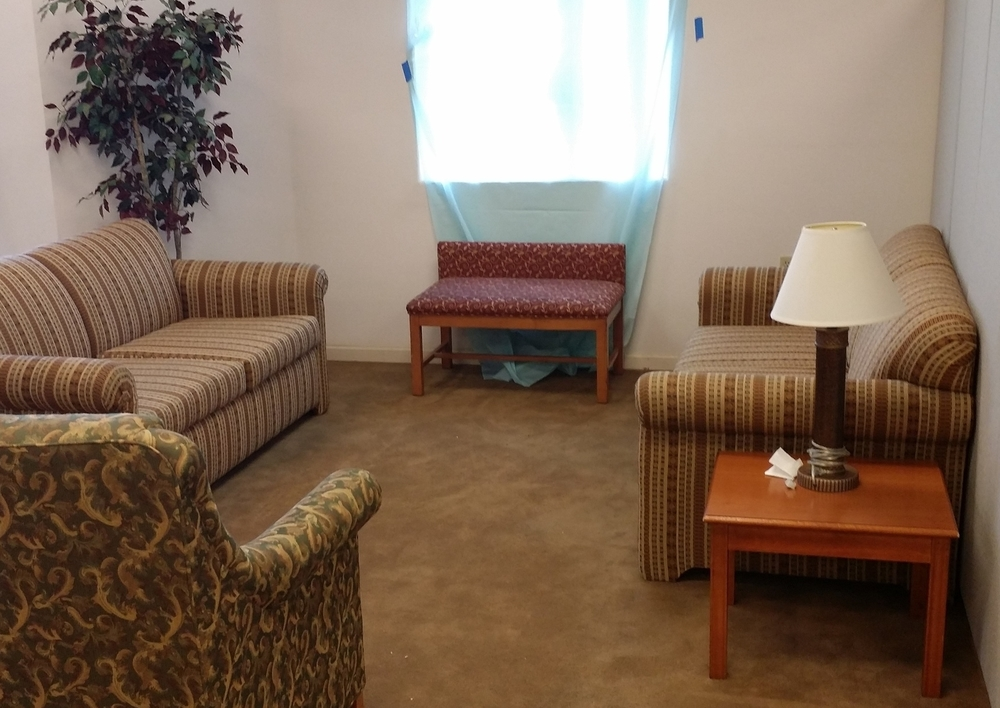 One visitation area we have for visits between children and their biological family.