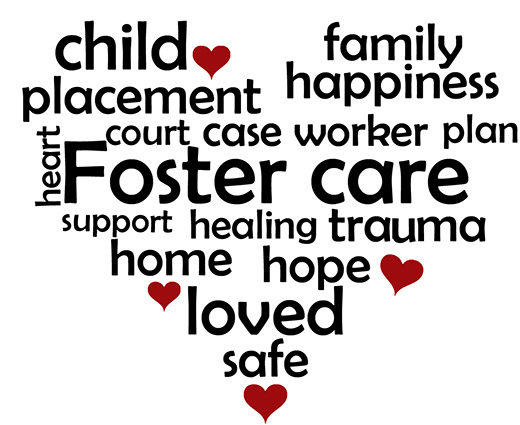 How you help by being a foster parent.  You provide love, hope, support, and healing.