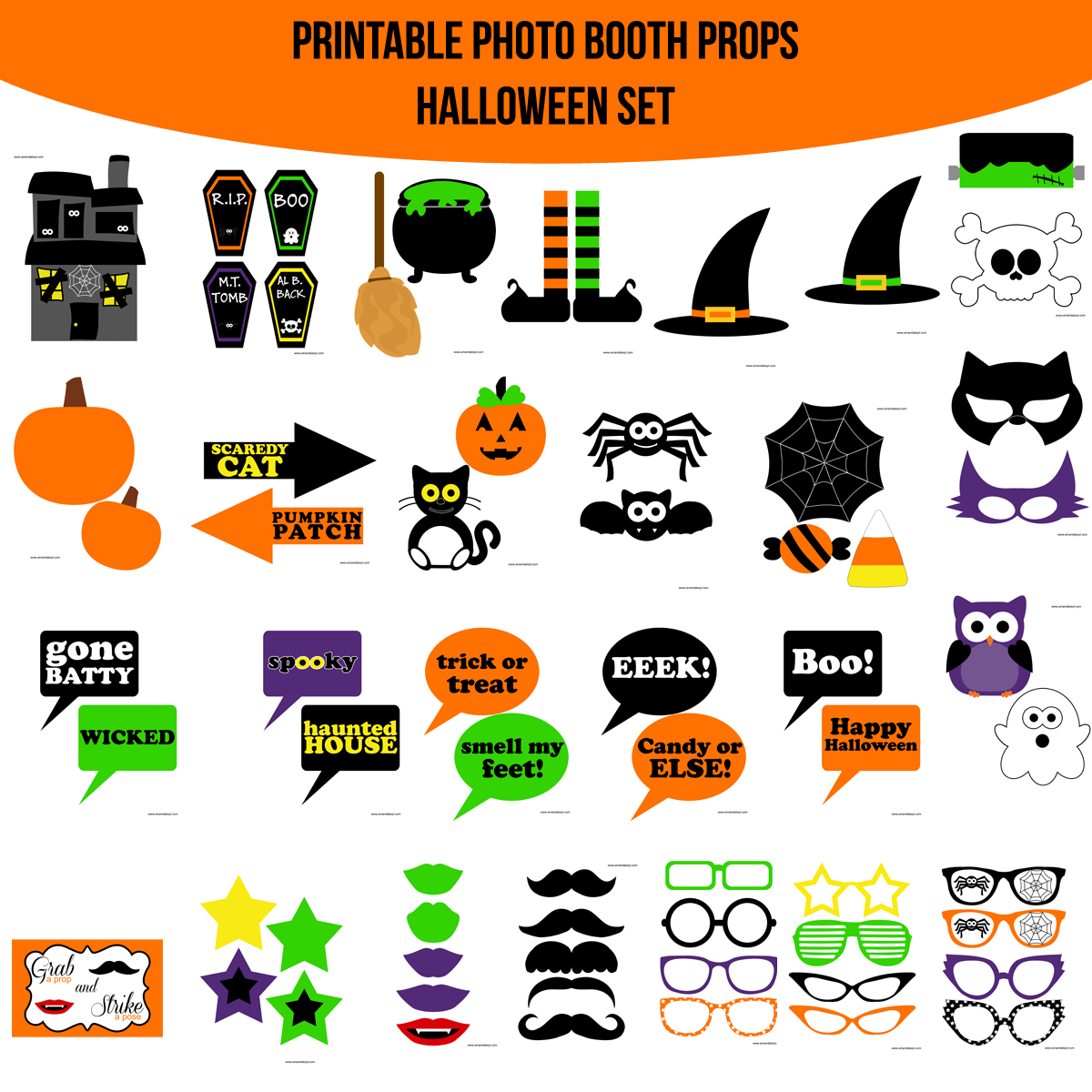 graphic about Halloween Photo Booth Props Printable Free named Holiday seasons Good reasons A long time Amanda Keyt Printable Styles