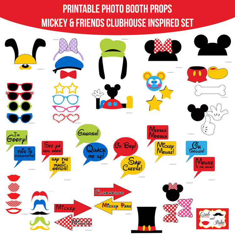 Instant Download Mickey Mouse Friends Clubhouse Inspired Printable